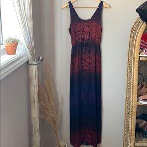 Club Monaco Silk Tie Back Maxi Dress Size 6